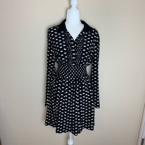 Kate Spade silk swan printed dress #1930